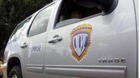Vista de un auto del Cuerpo de Investigaciones Científicas, Penales y Criminalísticas,CICPC, en Venezuela.