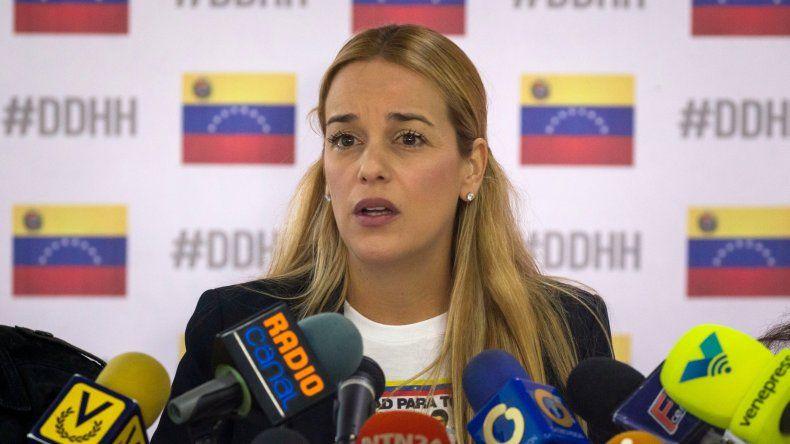 Lilian Tintori, esposa del líder opositor venezolano Leopoldo López, y defensora de los derechos humanos.