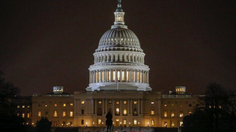 Vista del Capitolio, sede del Congreso de los EEUU, en Washington DC.