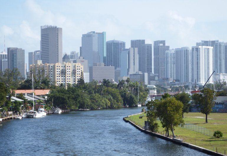 Vista parcial de la ciudad de Miami.