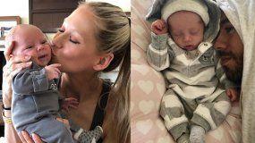 La extenista Anna Kournikova y el cantante Enrique Iglesias publicaron en Instagram las primeras fotos de sus gemelosLucy y Nicholas.