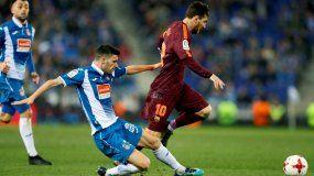 Lionel Messi falló un penal en el minuto 62 luego de una falta cometida sobre Sergi Roberto.