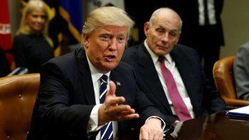 Las palabras de Trump se interpretan en Washington como un desafío a su jefe de gabinete,John Kelly.