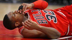 La caída del piloto de los Bulls sorprendió a todos los aficionados en Chicago.
