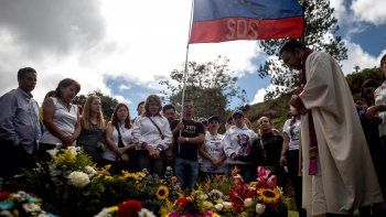 Funeral de Óscar Pérez en el cementerio del Este de Caracas