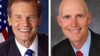 Bill Nelson y Rick Scott podrían verse las caras por un asiento en el Senado de la nación.