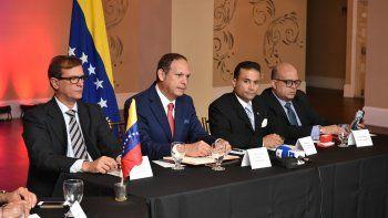 Los magistrados Pedro Tinoco; Miguel Ángel Martin (presidente del TSJ);Rommen Gil Pino y AntonioJosé Marval Jiménez