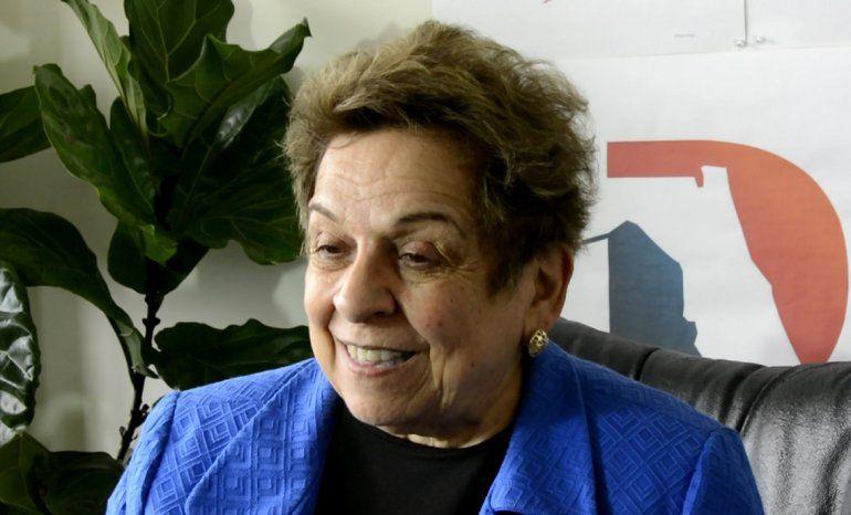 Donna Shalala, aspirante al Congreso de EEUU por el distrito 27 de Florida.