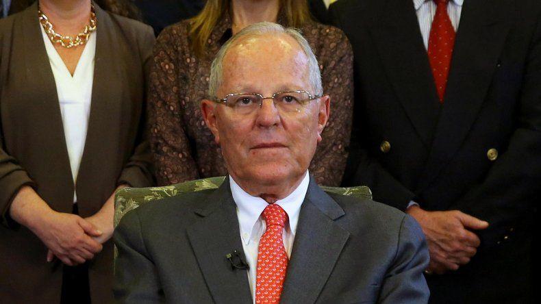 Pedro Pablo Kuczynski, durante su mensaje al Perú este 21 de marzo, cuando puso punto final a un Gobierno que duró un año, siete meses y 21 días.