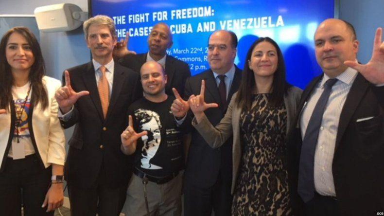 Varios galardonados con el Premios Sájarov abogan en Washington por libertad de Cuba y Venezuela.