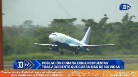 Población cubana exige respuestas tras accidente aéreo