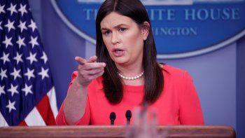 SarahSanders, secretaria de Prensa de la Casa Blanca.