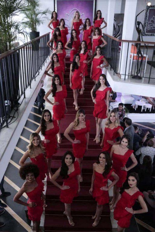 Las 24 candidatas del Miss Venezuela fueron presentadas a los medios de comunicación en la sede del certamen.