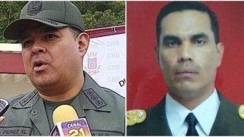 El General Alejandro Pérez Gámez, y el coronel Pedro Javier Zambrano Hernández.