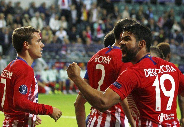 Diego costa anotó dos de los cuatro goles para que el Atlético se vengara  del Real en el tercer intento.EFE 332209876228e