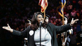 La legendaria cantante Aretha Franklin.