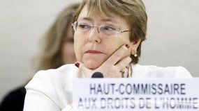 MichelleBachelet, alta comisionada de Naciones Unidas para los Derechos Humanos.
