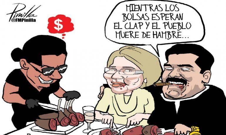 caricaturistas rechazan banquete de maduro en lujoso restaurant