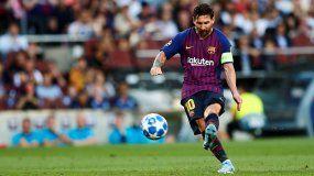 Messi comanda goleada del Barcelona y demuestra que quiere el título