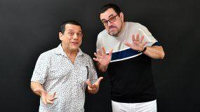 Los humoristas venezolanos Laureano Márquez y Emilio Lovera.