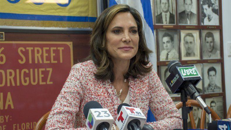 La candidata al Congreso federal María Elvira Salazar.