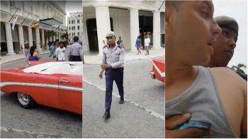 El choferfue arrestado al tratar de conseguir clientes en un área turística.
