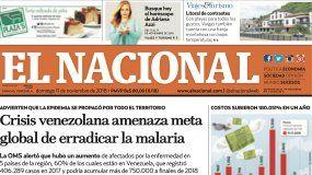 El Nacional: Edición del 11 de noviembre de 2018