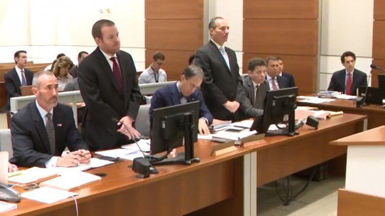 Vista parcial de la sesión judicial de los abogados de Rick Scott y Bill Nelson.