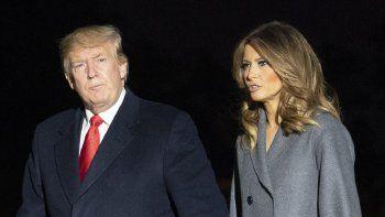 Donald Trump, presidente de los EEUU, y la primera dama, Melania.