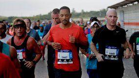 El actor estadounidense Will Smith corrió la media maratón de La Habana.