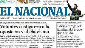 El Nacional: Edición del 11 de diciembre de 2018