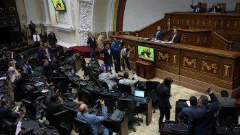 Vista de una sesión del Parlamento venezolano controlado por la oposición.