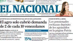 El Nacional: Edición del 13 de diciembre de 2018