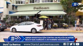 Investigan a policía de Miami Beach que agredió a un hombre desarmado