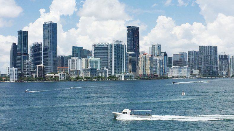 Vista parcial del centro urbano de Miami, donde radica el distrito financiero de la ciudad.