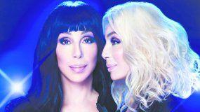 Afiche promocional de la gira de Cher, Here We Go Again.