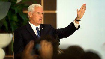 En la imagen, el vicepresidente de Estados Unidos, Mike Pence.