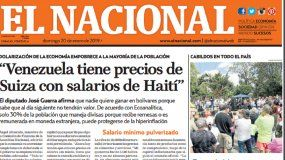 El Nacional: Edición del 20 de enero de 2019