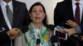 María Teresa Belandria, designada nueva embajadora del Gobierno de Juan Guaidó, presenta sus credenciales en Brasil.