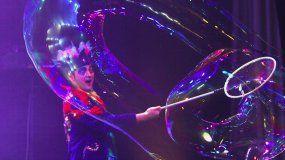 Show de burbujas.
