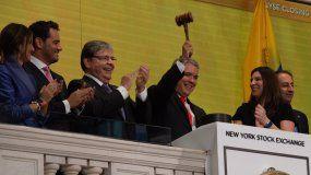 El presidente de Colombia Iván Duque visitó la Bolsa de Valores de Nueva York durante su viaje a EEUU.