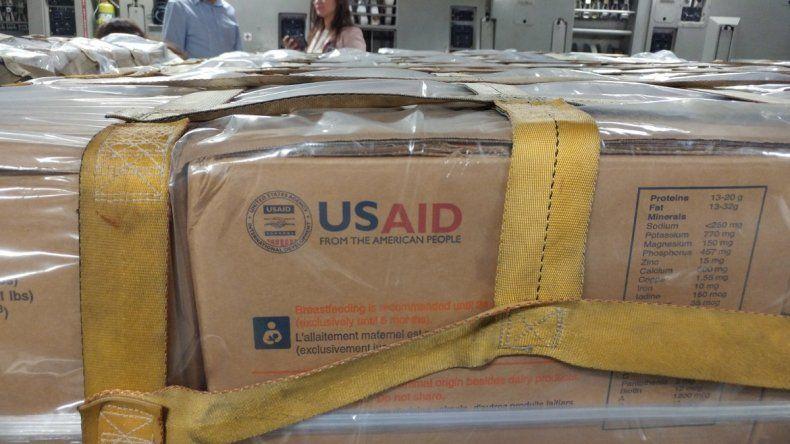 Fotografía de la ayuda humanitaria enviada por EEUU a la ciudad colombiana de Cúcuta, publicada en la cuenta de Twitter del Comando Sur.
