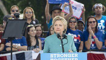 Hillary Clinton fue la candidata oficial del Partido Demócrata en 2016. La convención demócrata fue en Filadelfia.