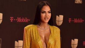 La cantante dominicana Natti Natasha en la alfombra de la trigésimo tercera edición de Premio Lo Nuestro.