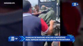 Fuerzas de Maduro atacan a indígenas para impedir ingreso de ayudas