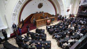 Vista general de la sesión de la Asamblea Nacional de Venezuela