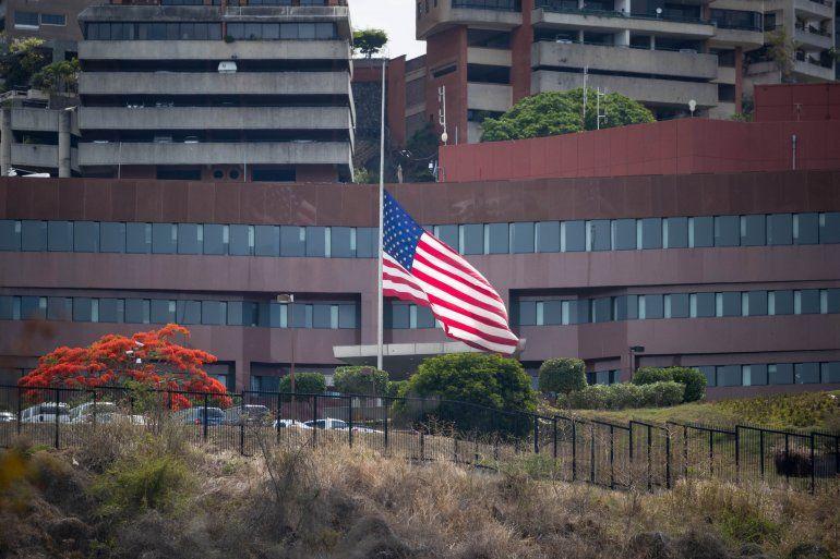 Vista externa de laembajadade Estados Unidos en Caracas.
