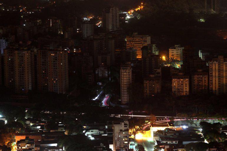 Vista panorámica de un sector de Caracas afectado por el apagón que se inició el jueves 7 de marzo de 2019.