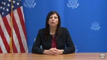 Mara Tekach, encargada de Negocios de la Embajada de EEUU en La Habana.