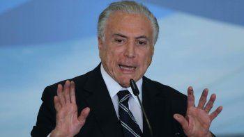 El expresidente de Brasil, Michel Temer